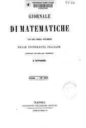 Giornale di matematiche ad uso degli studenti delle università italiane: Volume 7