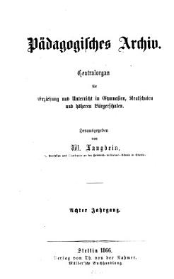 P  dagogisches Archiv PDF