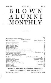 The Brown Alumni Monthly: Volume 15