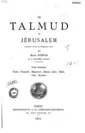 Le Talmud de Jérusalem: Volumes3à5