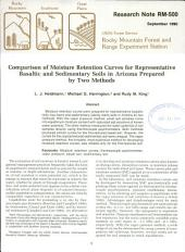 Comparison of Moisture Retention Curves for Representative Basaltic and Sedimentary Soils in Arizona Prepared by Two Methods