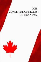 Lois constitutionnelles de 1867 à 1982