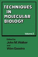 Techniques in Molecular Biology PDF