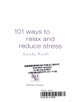 101 Ways to Relax and Reduce Stress PDF