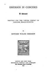 Emerson in Concord: A Memoir