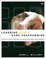 Learning HTML5 Game Programming PDF