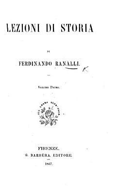 Lezioni di Storia  vol  1 PDF