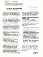 Botanical Insecticides and Insecticidal Soaps