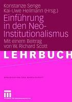 Einf  hrung in den Neo Institutionalismus PDF