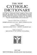 The New Catholic Dictionary PDF