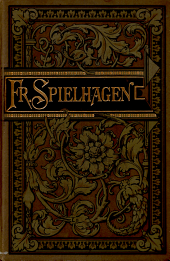 Friedrich Spielhagens sämmtliche romane: Band 19