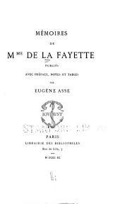 Mémoires de Mme de La Fayette
