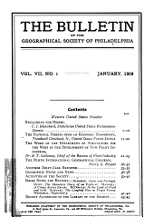 The Bulletin of the Geographical Society of Philadelphia: Volume 7
