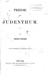 Presse und Judenthum