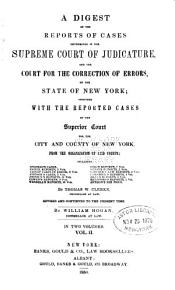 Digest of Cases in Supreme Court and Court of Errors of the State of New York PDF