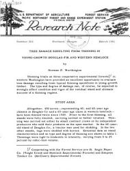 Research Note Pacific Northwest Forest And Range Experiment Station Book PDF