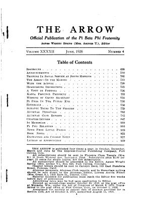 The Arrow of Pi Beta Phi PDF