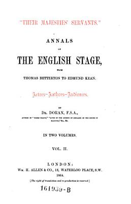 Annals of the English Stage PDF