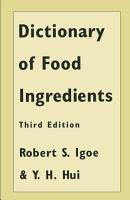 Dictionary of Food Ingredients PDF