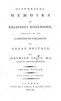 Historical Memoirs of Religious Dissension PDF