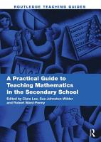 A Practical Guide to Teaching Mathematics in the Secondary School PDF