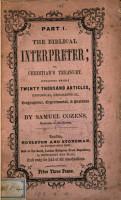 The Biblical interpreter  or  Christian s treasury PDF