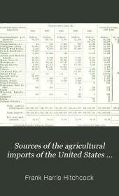 Sources of the Agricultural Imports of the United States 1896-1900