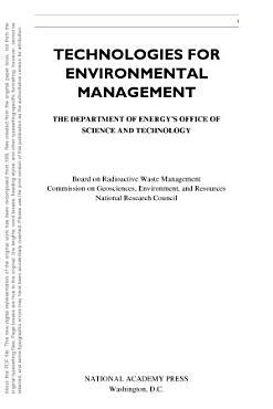 Technologies for Environmental Management PDF