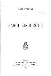 Saggi linguistici