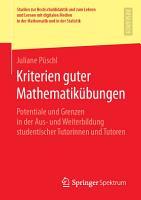 Kriterien guter Mathematik  bungen PDF