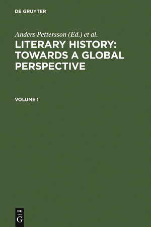 Literary History  Towards a Global Perspective PDF