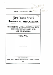 Proceedings of the New York State Historical Association: Volume 7