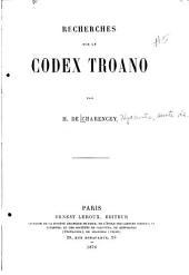 Recherches sur le Codex Troano