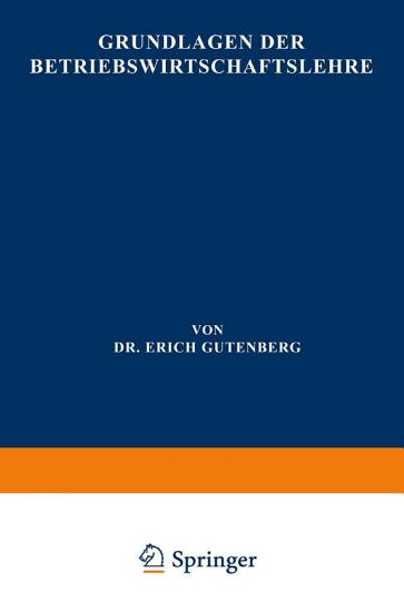 Grundlagen der Betriebswirtschaftslehre PDF