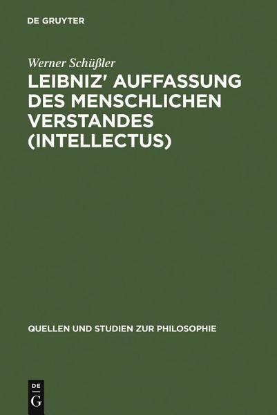 Leibniz Auffassung Des Menschlichen Verstandes Intellectus