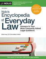 Nolo s Encyclopedia of Everyday Law PDF