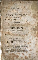 Catalogue of the stock in trade of ... W. Collins ... which will be sold by auction