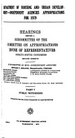 Department of Housing and Urban Development  independent Agencies Appropriations for 1979 PDF