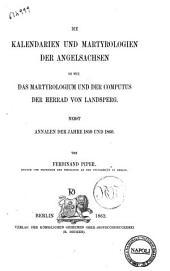 Die Kalendarien und Martyrologien der angelsachsen so wie das Martyrologium und der computus der Herrad von Landsperg von Ferdinand Piper
