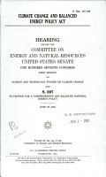 Climate Change and Balanced Energy Policy Act PDF