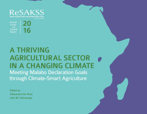 A thriving agricultural sector in a changing climate