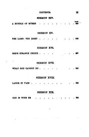 Sermons of Rev  C H  Spurgeon of London     PDF