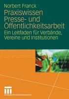 Praxiswissen Presse  und   ffentlichkeitsarbeit PDF