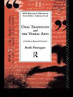 Oral Traditions and the Verbal Arts PDF