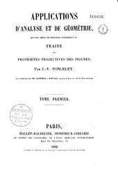 Applications d'analyse et de geometrie: qui ont servi de principal fondement au traite des Propietes projective des figures