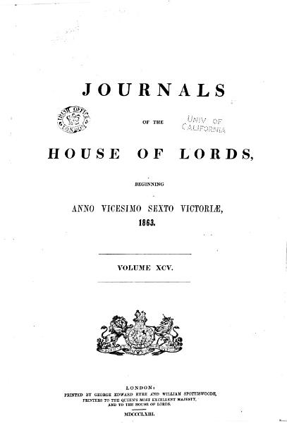 Download Journals of the House of Lords Book