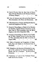 Journal of a Voyage to the Northern Whale-fishery: Including Researches and Discoveries on the Eastern Coast of West Greenland, Made in the Summer of 1822, in the Ship Baffin of Liverpool