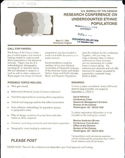 Research Conference on Undercounted Ethnic Populations PDF