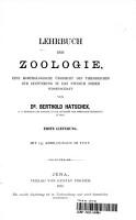 Lehrbuch Der Zoologie  Eine Morphologische Ubersicht Des Thierreiches Zur Einfuhrung In Das Studium Dieser Wissenschaft PDF
