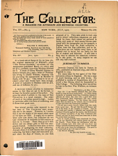The Collector: A Monthly Magazine for Autograph and Historical Collectors, Volume 15, Issue 9